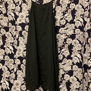 Formal black flowy tank dress